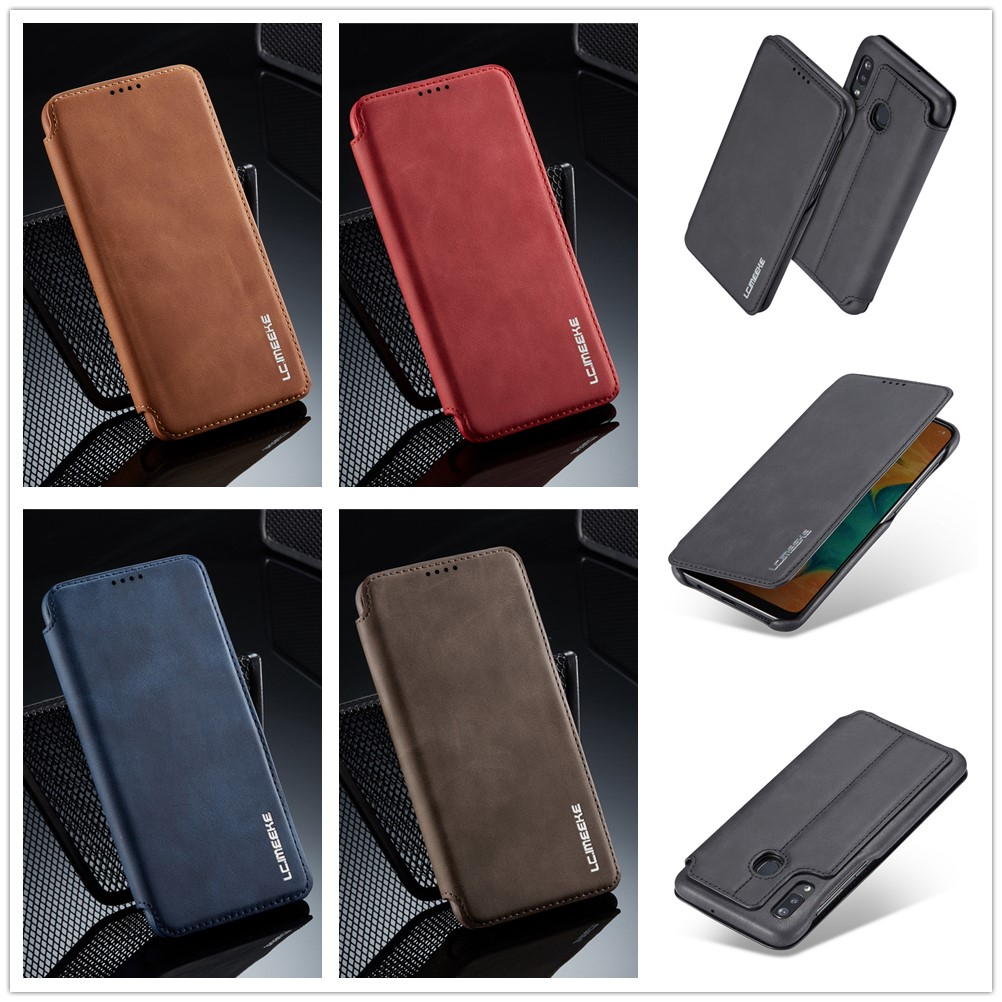 A20e A202F Case for Samsung Galaxy A30 A40 A50 A70 A20 e Cover Logo Cases Flip Leather Thicken Wallet Stand Brand Quality Book