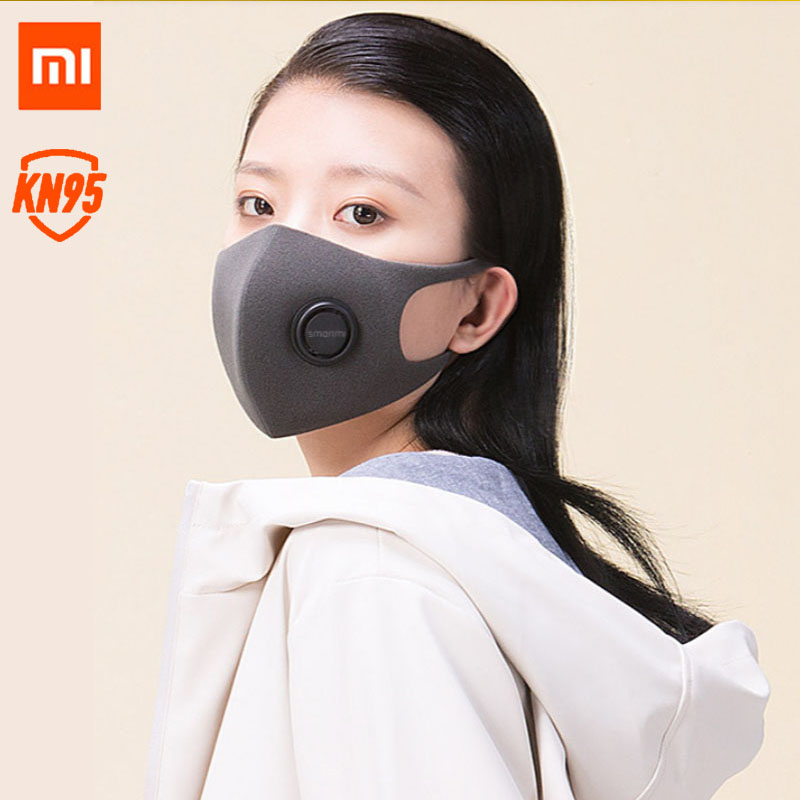 2020 New Xiaomi Smartmi Mi Mask N95 / KN95 Anti Virus 5 Layer Protection Protective From Face Size S M Beauty Design