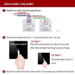 Image 5 - Настенный переключатель для лестницы, европейского стандарта, 2 канала, сенсорный высветильник ель для домашней автоматизации, водонепроницаемый и огнестойкий, 1 2 3 канала, одна линия прямого эфира