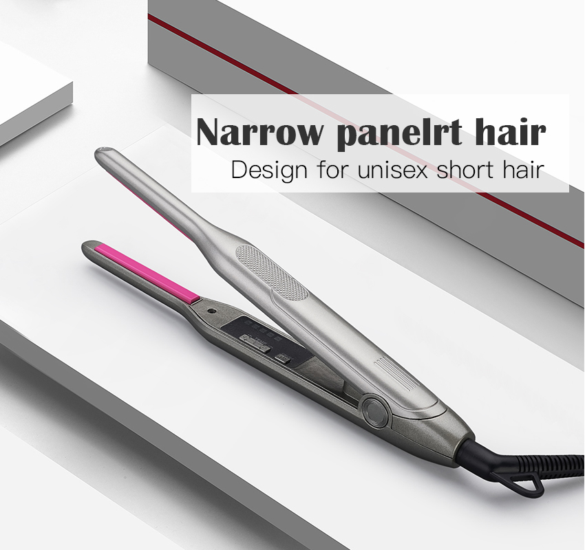 Professional Flat Iron for Short Hair 2 in 1 LED Hair Straightener Ceramic Beard Hair Straightener Curling Iron hair curler