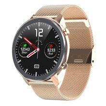 Smart Watch Men Women ECG SmartWatch Heart Rate Monitor Full Round Touch IP68 Fitness Sport Tracker Bracelet VS DT78
