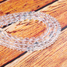 White Crystal Natural Stone Bead Round Loose Spaced Beads 15 Inch Strand 4/6/8/10/12mm For Jewelry Making DIY Bracelet