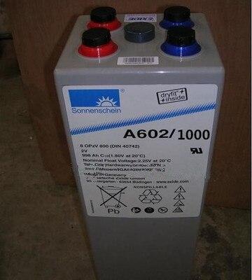 Batterie de soleil allemagne A602/1000 batterie de secours sans entretien 2V1000AH