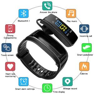 Image 2 - Y3 Plus Wireless Bluetooth earphone smart watch Health Tracker Pedometer Fitness Bracelet Smart Wristband Bluetooth headset