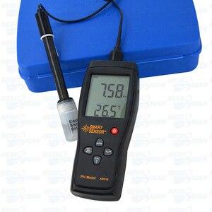 Profesjonalny inteligentny czujnik AS218 wysokiej precyzji cyfrowy ph-metr miernik PH gleby 0.00 ~ 14.00pH Tester pomiaru wilgotności wody PH