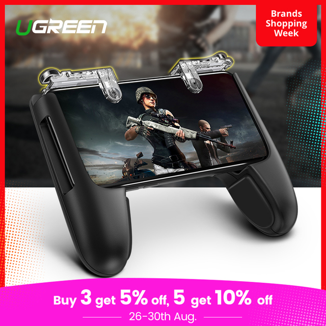 Ugreen Mobile Game Controller Gamepad Trigger Aim Button L1R1 Shooter Joystick For IPhone Android Phone Game Pad Accesorios