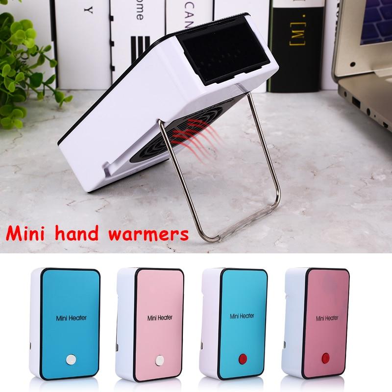 Safety Energy-Saving Heater Mini Portable Room Office Desktop Electric Fan Heater Air Warmer 110v Blue