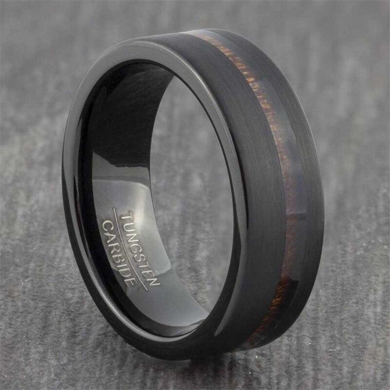 Мужское кольцо из титановой стали в стиле панк, вращающаяся цепочка 8 мм, черный вольфрам, полированный черный, в стиле панк, рок, Байкерский, ...