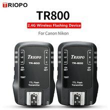 TRIOPO TR800 TR 800 odbiornik i nadajnik 2.4G bezprzewodowy miga urządzenie do Canon aparat Nikon garnitur dla TR 988 TR 950 TR 586