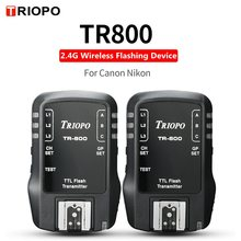 TRIOPO TR800 TR 800 receiver and transmiter 2.4G wireless flashing device For Canon Nikon Camera Suit for TR 988 TR 950 TR 586