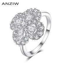 Кольцо женское из серебра 925 пробы в форме цветка