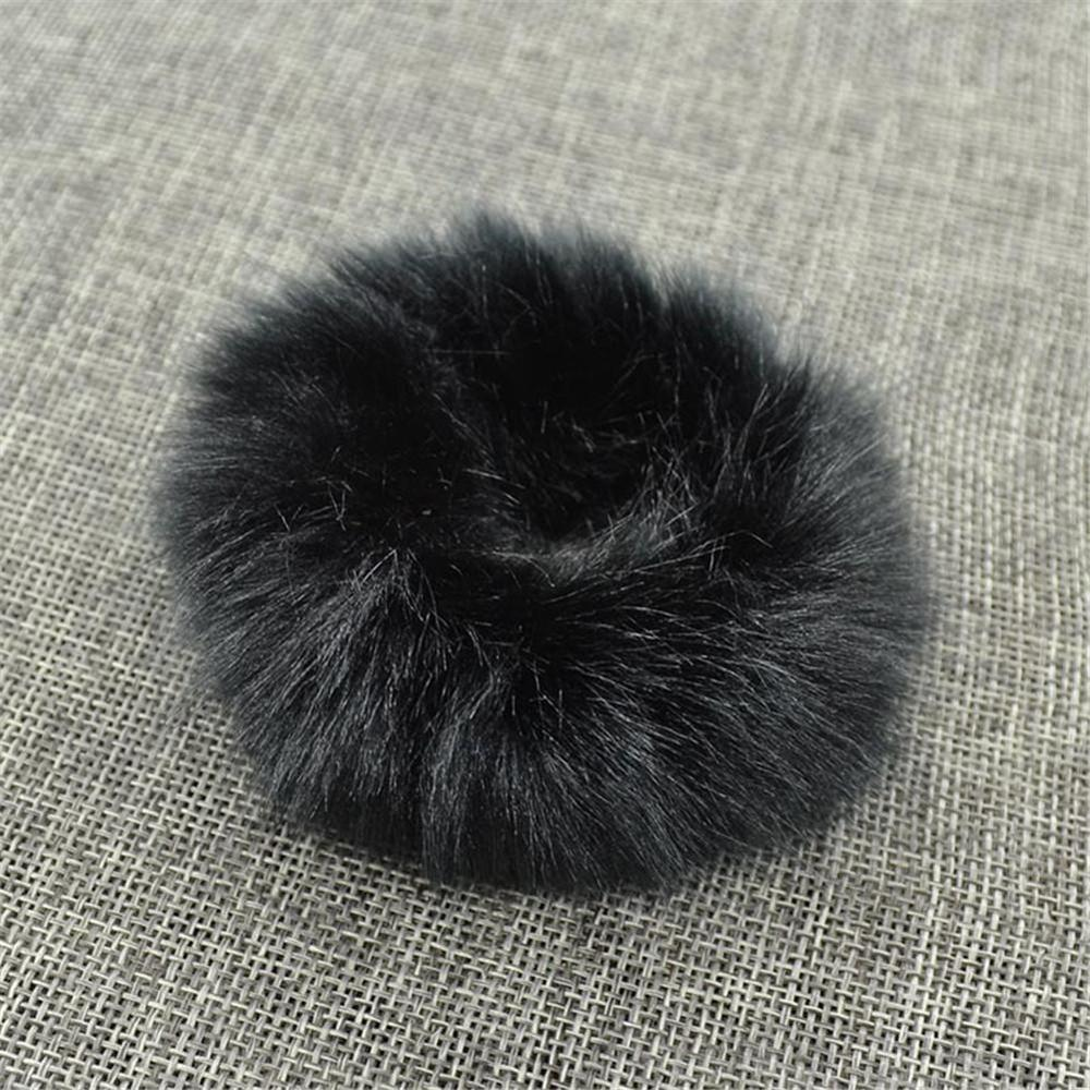 Мягкая Плюшевая повязка для волос резинки для волос натуральный мех кроличья шерсть мягкие эластичные резинки для волос для девочек однотонный цветной хвост резинки для волос для женщин - Цвет: 15