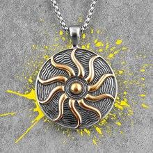 Apollo talismán dios Sol de acero inoxidable collares de hombres cadena Punk para novio, hombre de la creatividad regalo venta al por mayor