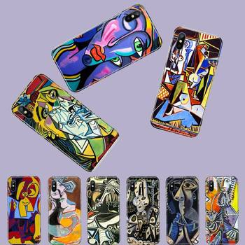 Pablo Picasso arte personalizado foto funda de teléfono suave para iphone 4 4s 5 5s 5c se 6 6s 7 8 plus x xs x xr 11 pro max