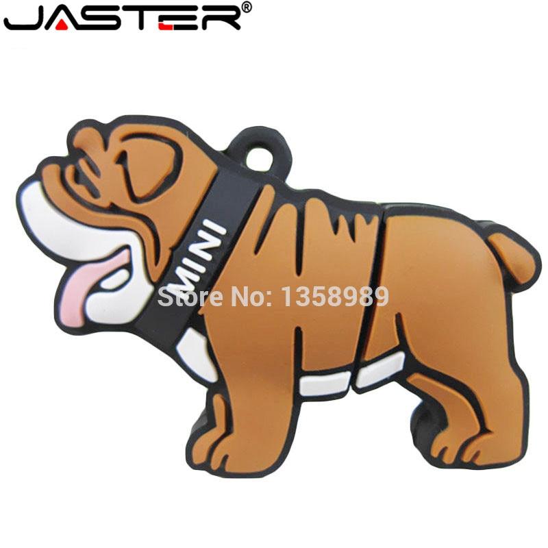 JASTER Lovely Cartoon Dog Usb 2.0 Usb Flash Drive Pendrive Pen Drive  4GB 8GB 16GB 32GB 64GB Menory Stick U Disk Usb Creativo