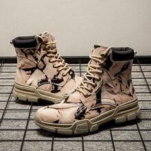 Bottes en cuir pour hommes, chaussures antidérapantes, bout en cuir pour hommes, botas hombre graffiti, haute qualité, hiver
