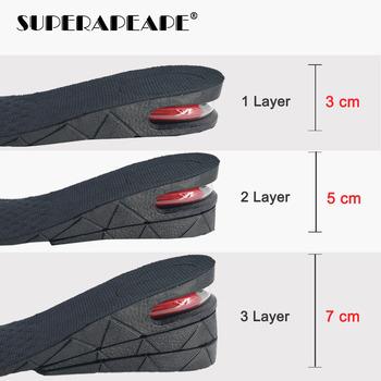 3-7cm wkładka podwyższająca wysokość poduszki podnoszenie regulowany obcas buta wkładka Taller wsparcie Absorbant podnóżek wkładka do butów tanie i dobre opinie SUPERAPEAPE CN (pochodzenie) 3 cm-5 cm Średnia (B M) Height Increase Insole E Stałe Szybkie suszenie ANTYPOŚLIZGOWE Mocne