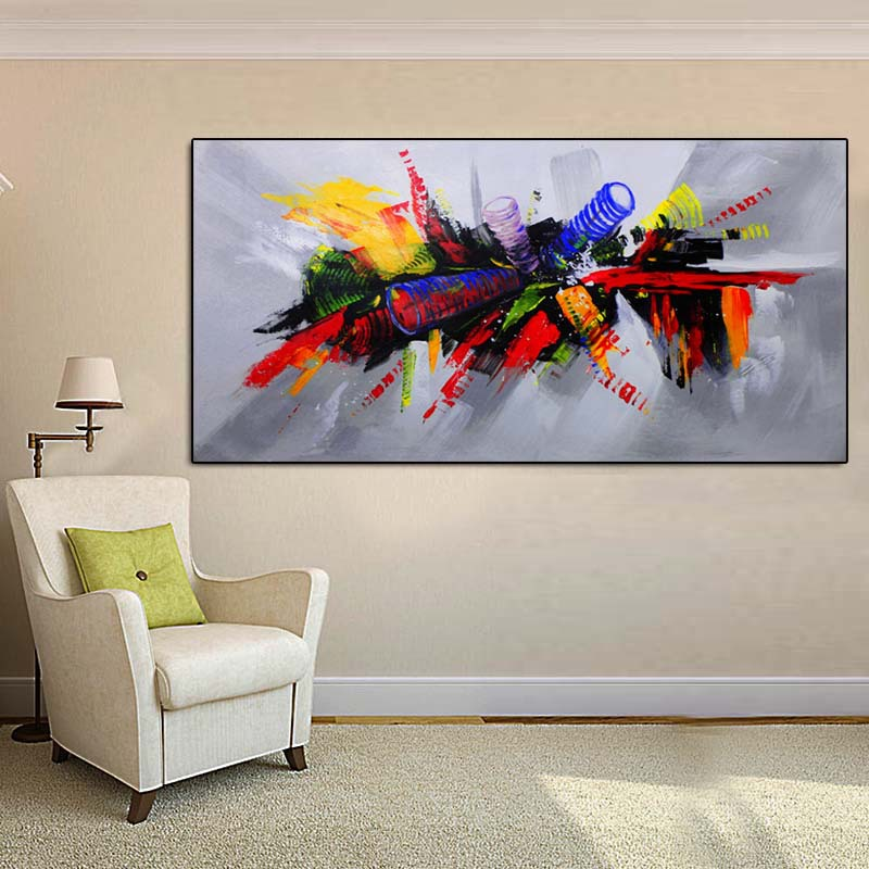 HD Micro-jet Model Oil Painting Hotel Bedside Decorative Painting EBay Amazon Cross Border Hot Selling Airbrushed Painting for D(China)