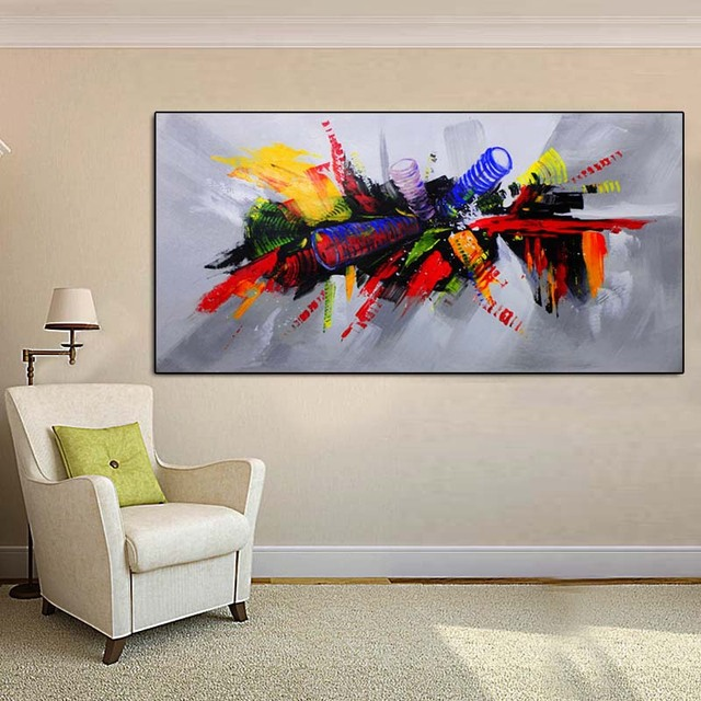 HD Micro-jet Model Oil Painting Hotel Bedside Decorative Painting EBay Amazon Cross Border Hot Selling Airbrushed Painting for D