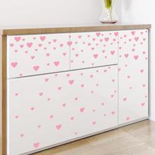 Colorful Heart Wall Stickers Bedroom Baby Room Home Decor Vinyl Decals Diy 30*60cm Wallpaper Art Decorations