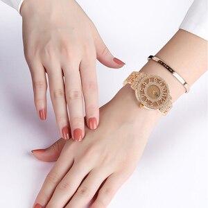 Image 3 - SUNKTA New Arrivals Women Watches Stainless Steel Exquisite Watch Women Rhinestone Luxury Casual Quartz Watch Relojes Mujer