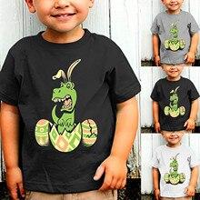 Tops T-Shirt Baby-Girls Toddler Summer Cotton Cartoon Short-Sleeve Easter-Day Print Kids