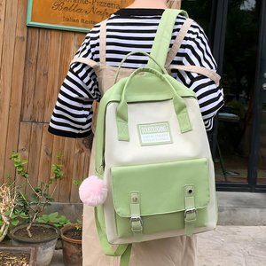 Image 4 - New Trend Female Backpack Fashion Cute Women Backpack Canvas Shoulder Bags Teenage Women School Bags Mochilas School Backpack