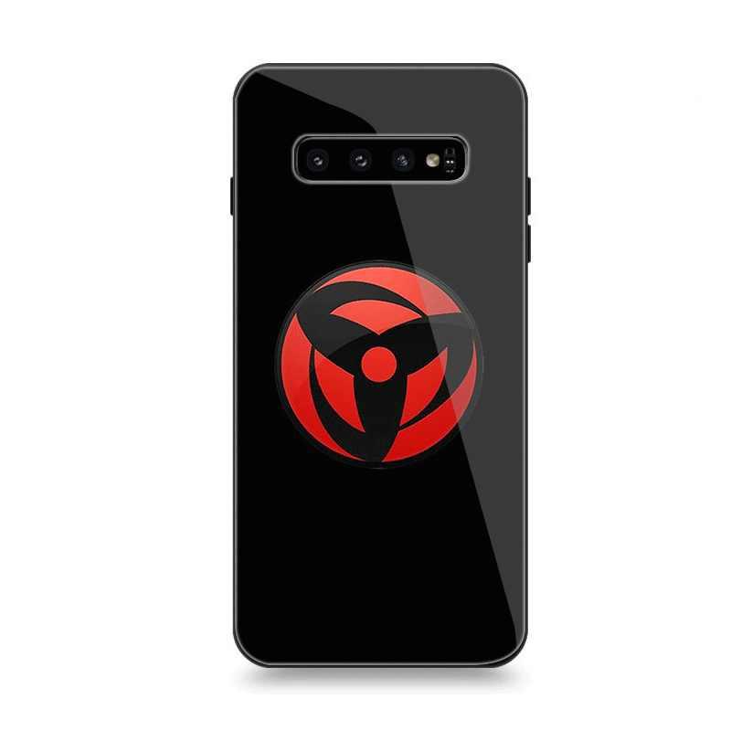 Caixa do telefone De Vidro para Samsung A40 A50 A10 A20 A30 A60 A70 S10 S7 Borda S8 S9 Nota 8 9 10 Plus Capa Naruto