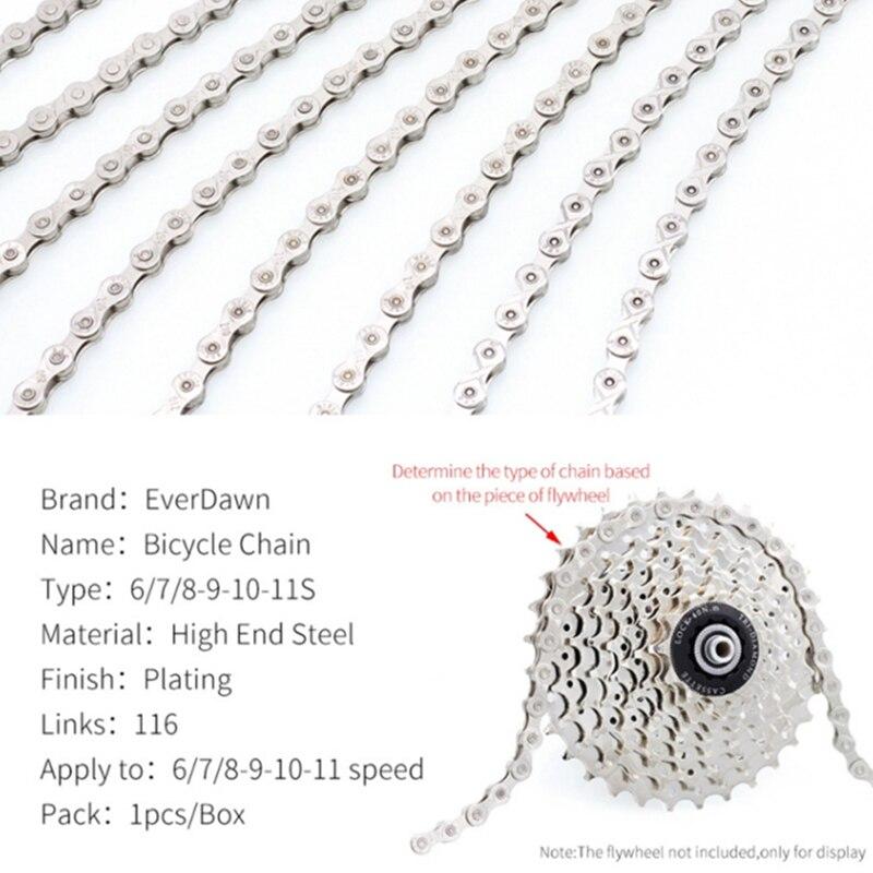 For 6/7/8/9/10/11 Speed Bike Chain Sliver for MTB/Road Bike fo Shimano/SRAM Chain Bike|Bicycle Chain| |  - title=