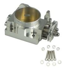 70mm de alumínio turbo acelerador corpo desempenho do corpo acelerador admissão manifold acelerador para subaru wrx ej20 turbo 2001-2005