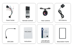 Image 4 - מולטימדיה לרכב 2 דין רכב נגן DVD כפול 2 דין אוניברסלי רכב רדיו GPS ניווט לרכב דאש סטריאו וידאו משלוח מפת מצלמה