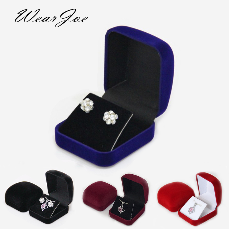 Stud Earrings Storage Box Drop Earrings Pendant Organizer Case Highly Velvet Small Necklace Jewelry Display Gift Packaging Boxes 1