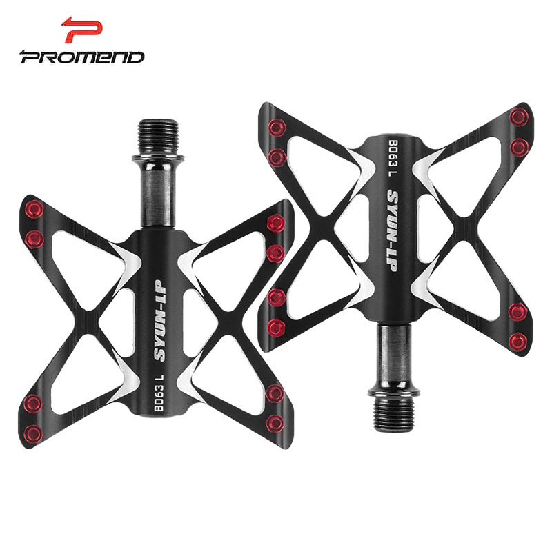 PROMEND Non-slip Mtb Pedals Bearing Mountain Bike Pedals for Bicycle Aluminum/Alloy Ultralight Road Cycling Pedals
