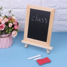Wood Frame Desktop White Whiteboard Children Kids Toy Chalk Wipe Board