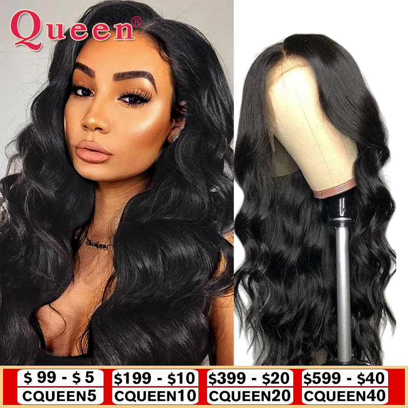 Body Wave Lace Front Human Hair Wigs Brazilian 100% Human Hair Wigs 360 Lace Frontal Wig For Black Women Lace Front Wig Queen