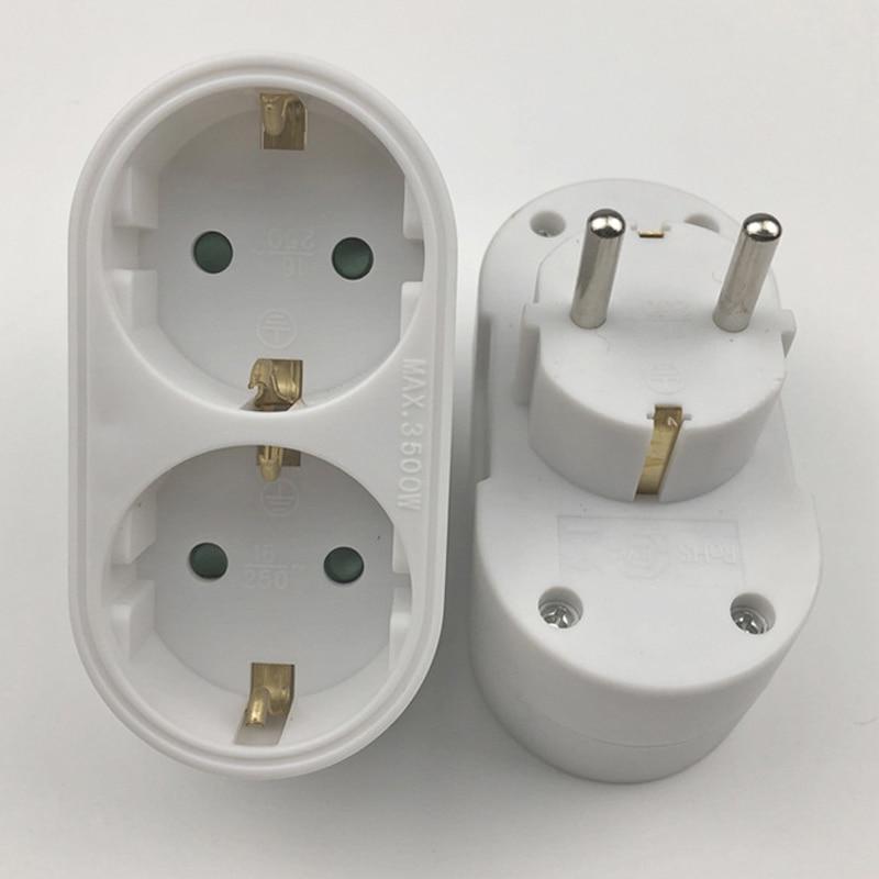 New 2/3 Socket Multiple Plug Power Strip Socket Distribution Adapter 16A/250V German Standard Power Supply Plug Adapter(China)