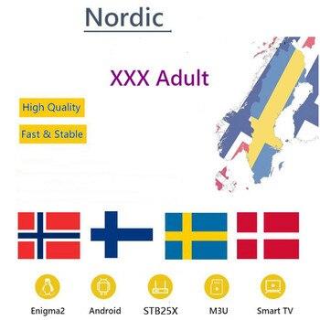 Najlepszy Nordic szwedzki IPTV dla szwecji norwegia finlandia XXX dorosły opcjonalny IPTV Abonnement Enigma2 Smart TV Box brak kanałów w zestawie