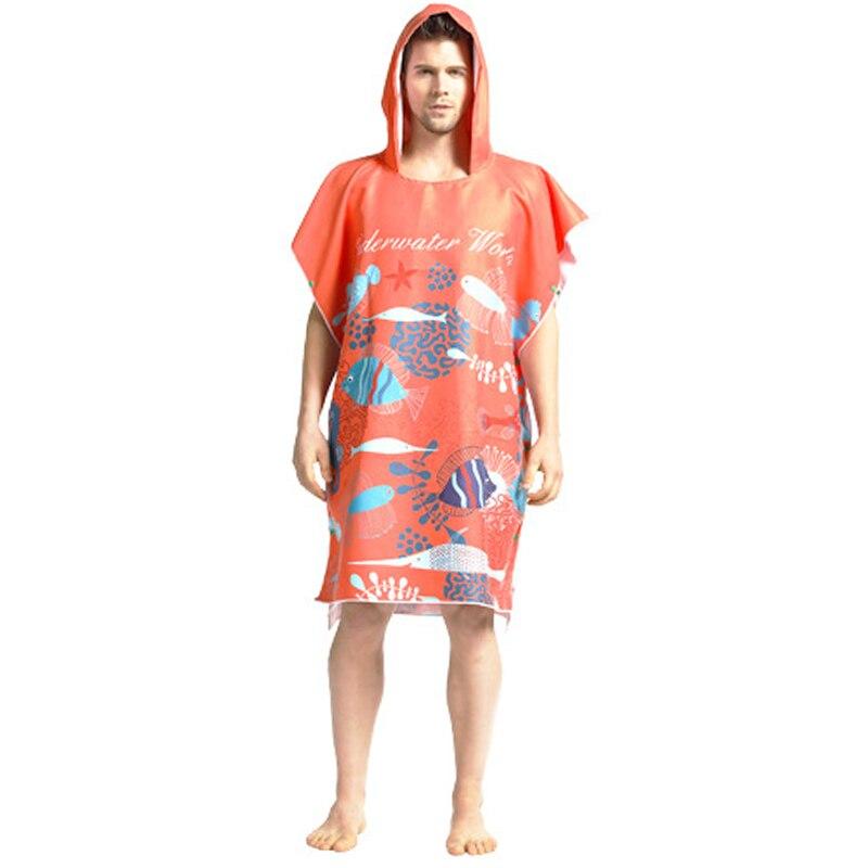 Печатный халат, банное полотенце, для улицы, для взрослых, с капюшоном, пляжное полотенце пончо, банный халат, полотенце s, мужской Халат