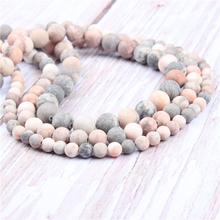 Frosted Zebra Natural?Stone?Beads?For?Jewelry?Making?Diy?Bracelet?Necklace?4/6/8/10/12?mm?Wholesale?Strand