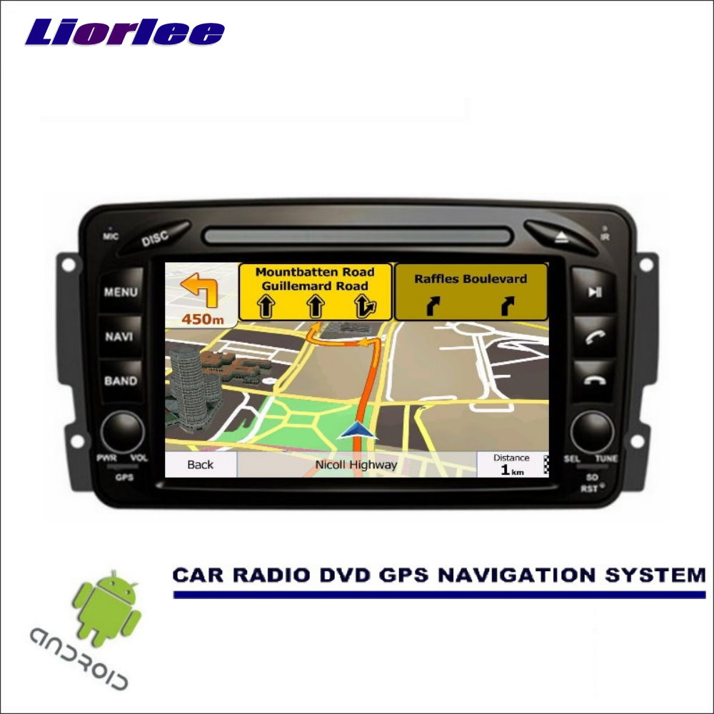 Liorlee For <font><b>Mercedes</b></font> Benz CLK <font><b>W208</b></font> A208 1996-2003 CD DVD <font><b>GPS</b></font> Player <font><b>Radio</b></font> Navi Stereo <font><b>Car</b></font> Multimedia Navigation Wince/Android image