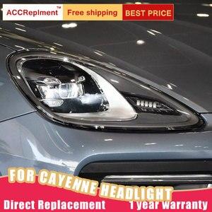 Image 4 - Auto Styling für Porsche Cayenne Scheinwerfer 11 14 Neue Cayenne LED Scheinwerfer LED DRL Kopf Lampe LED Abblendlicht hohe Strahl Zubehör