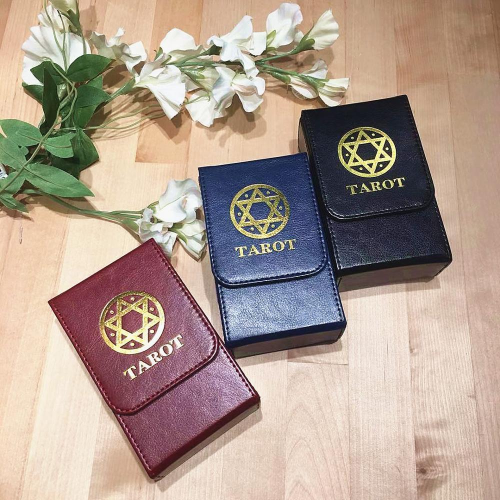 Высокое Качество Таро коробка для хранения двойной кожаный картон коробка для карточных игр Таро палмбокс оптовая продажа быстрая доставк...