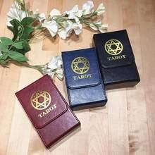 Boîte de rangement de tarot en cuir double avec rabat,pour collection de cartes de jeu de société, de haute qualité, livraison rapide et directe,