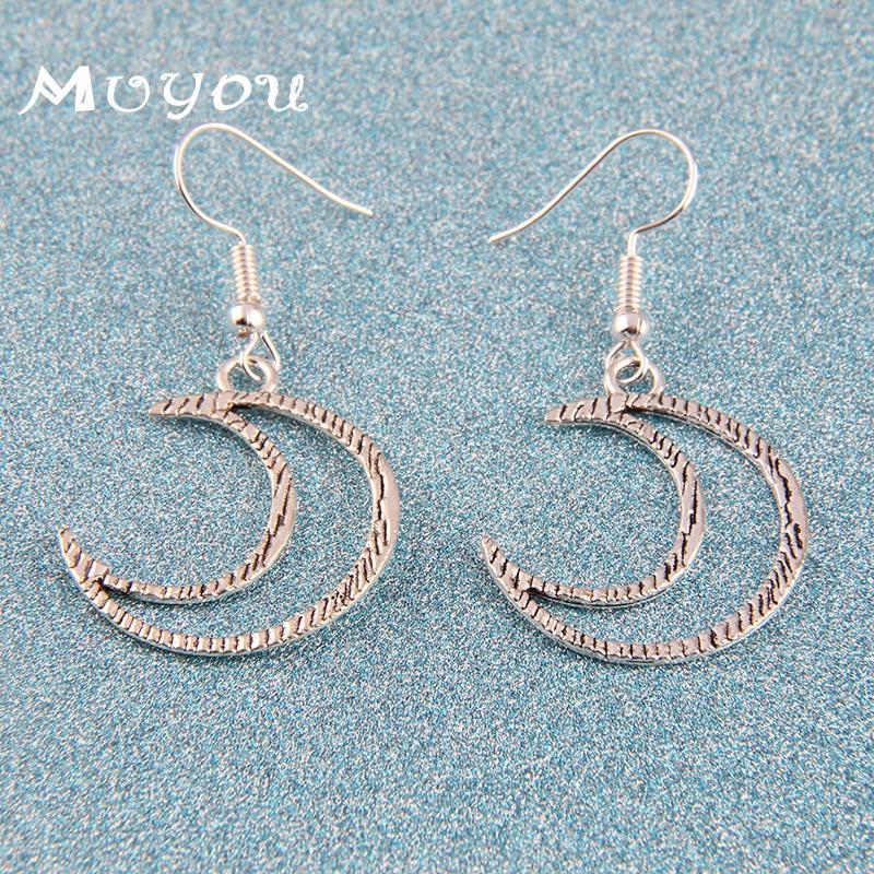 Fashion New Ear Stud Delicacy Alloy Moon Pendant Europe And America Cross Border Ornament Women's Cool Earrings