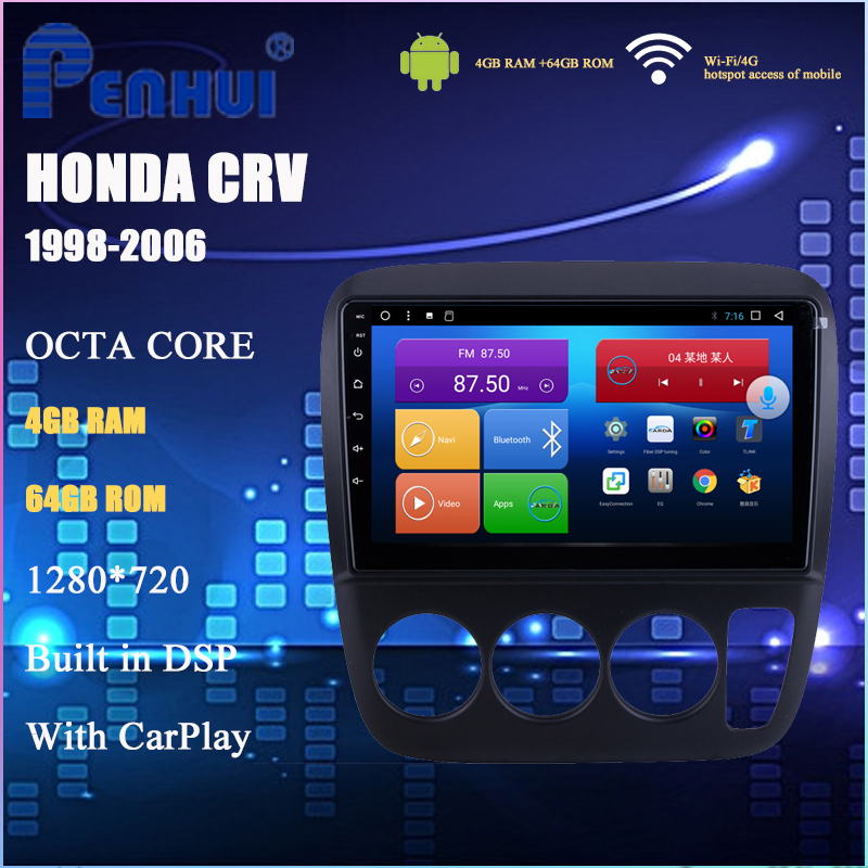 Android Car DVD For Honda CRV (1998-2006) Car Radio Multimedia Video Player Navigation GPS Android 10.0 Double DIn image