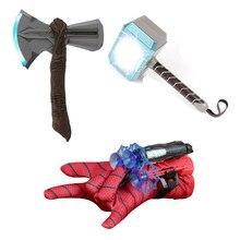 Super-herói led martelo stormbreaker luva lançador led cosplay adereços natal presente do dia das bruxas