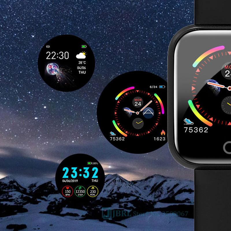 Relógio inteligente para android ios eletrônica relógio inteligente de fitness rastreador pulseira de silicone inteligente-relógio horas 5