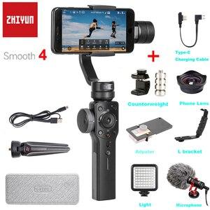 Image 1 - Zhiyun Glad 4 3 Axis Handheld Gimbal Stabilizer Focus Pull & Zoom Voor Iphone Xs Xr X 8Plus 8 7 6 Se Samsung S9 Actie Camera