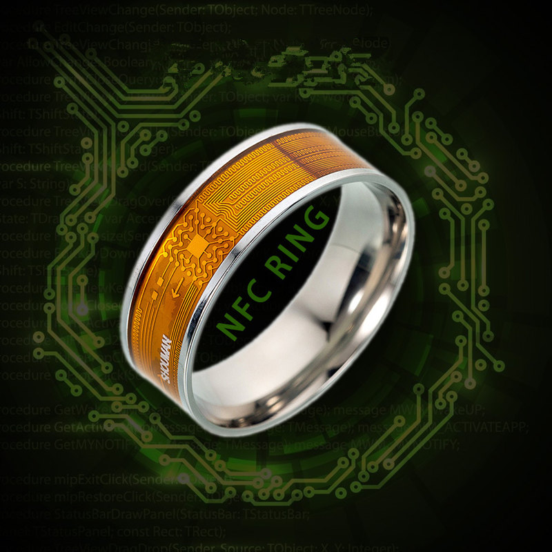 Multifunctional Unisex Stainless Steel NFC Smart Chip Ring Intelligent Ring Couple Finger Digital Rings Jewelry Accessories