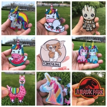 Pulaqi GIZMO Gremlin Patch Iron On Patches For Clothing Cute Unicorn Stickers Jurassic Park Kids T-Shirt Groot